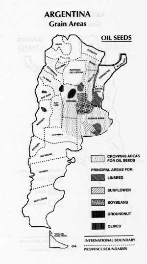 Map Of Argentinas Soybean Producing Areas - Argentina map black and white